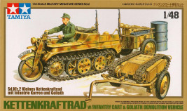 1:48 Kettenkraftrad w/ Infantry Cart & Goliath Demolition Vehicle