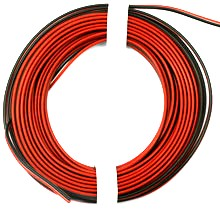 Silicone cable pair 0.34 mm ² flat