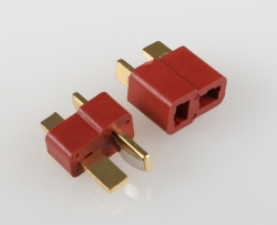 Connector gold-plated T-Dean, price for 1 pair