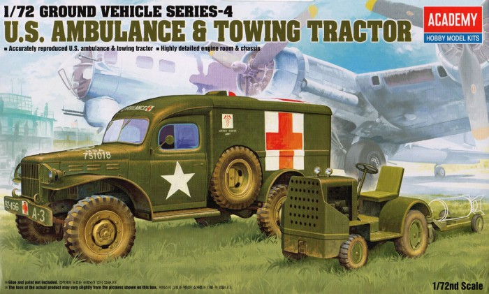 Náhled produktu - 1:72 U.S. Ambulance & Towing Tractor