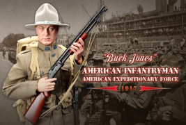 View Product - 1:6 WWI Buck Jones, American Infantryman, American Expeditionary Force in 1917