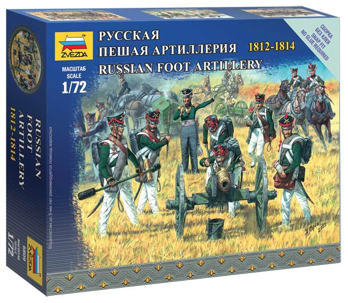 View Product - 1:72 Russian foot artillery 1812-1814 (SNAP FIT)