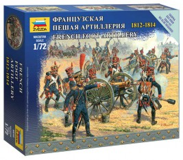 1:72 French Foot Artillery 1812-1814 (SNAP FIT)