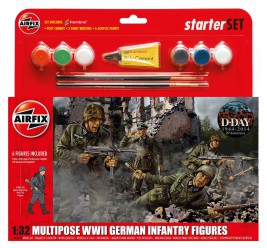 1:32 Multipose WWII German Infantry Figures