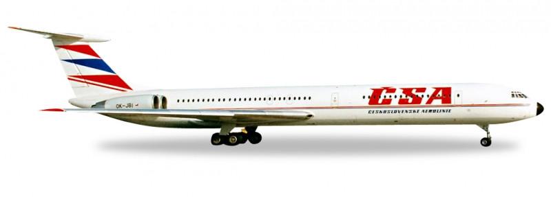 1:500 Iljušin Il-62M, ČSA Czech Airlines, 1990s Colors