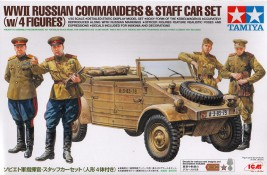 Náhled produktu - 1:35 WWII Russian Commanders & Staff Car Set