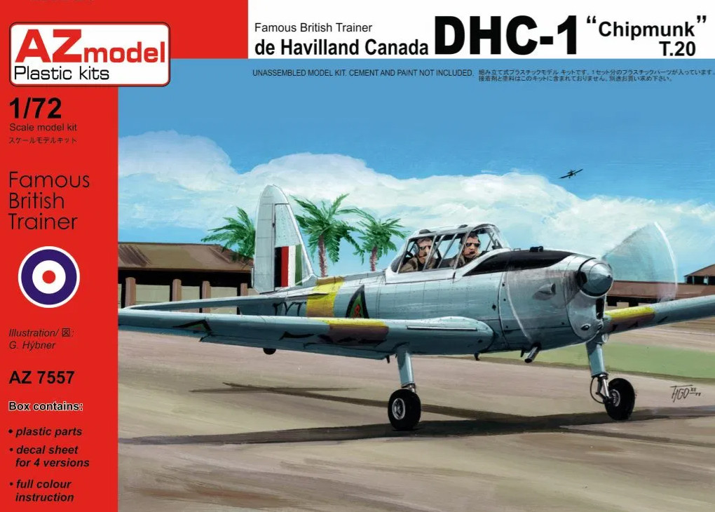 1:72 de Havilland Canada DHC-1 ″Chipmunk″ T.20