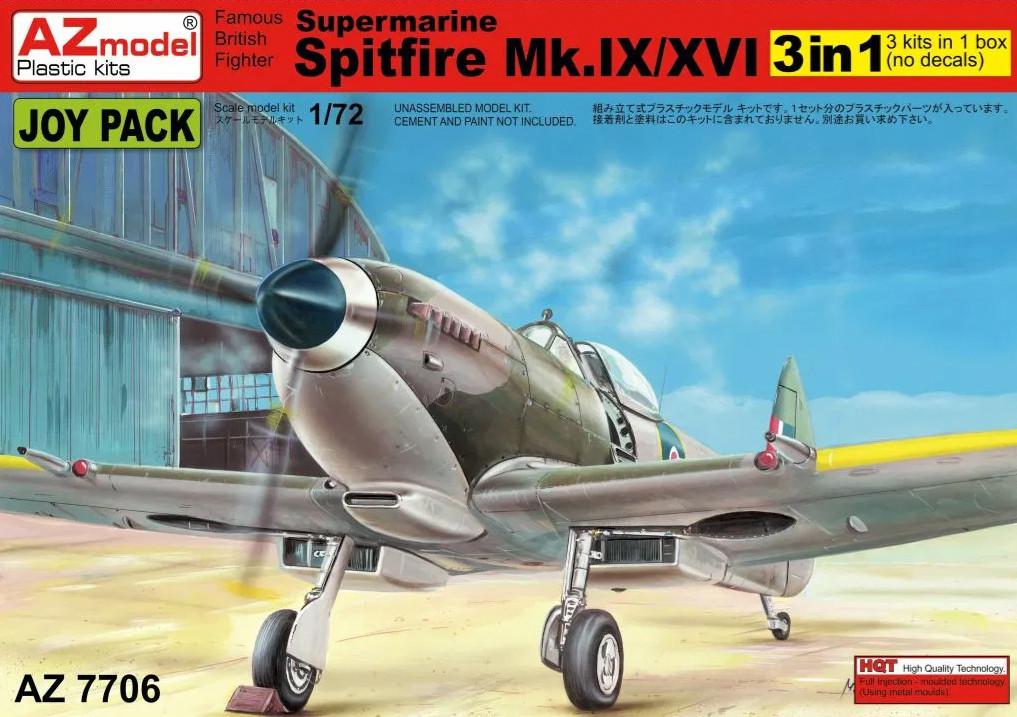 1:72 Supermarine Spitfire Mk.IX/XVI (3in1)