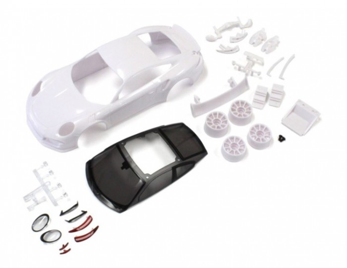 View Product - Mini-Z: Porsche 911 GT3 RS Body Set with Rims for MR-03 (Unpainted)