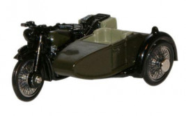 1:76 BSA Motorcycle Sidecar 34th Armoured Brigade 1945