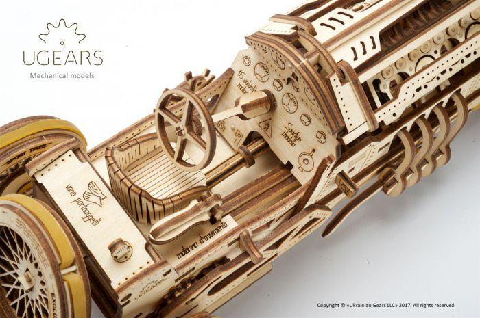 Wooden 3d Mechanical Puzzle U 9 Grand Prix Car