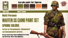 Andrea Waffen SS Camo Paint Set, Spring Colors (6 pcs)