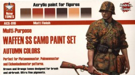 Andrea Waffen SS Camo Paint Set, Autumn Colors (6 pcs)