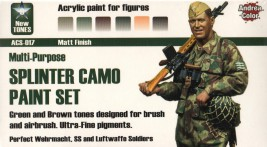 Andrea Splinter Camo Paint Set (6 pcs)
