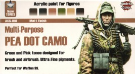 Andrea Pea Dot Camo Paint Set (6 pcs)