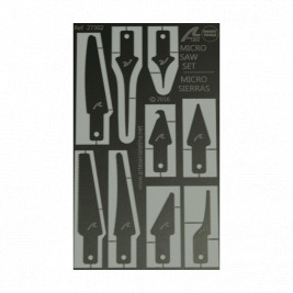 Photo Etched Steel Micro Saws and Adhesive Applicators Set