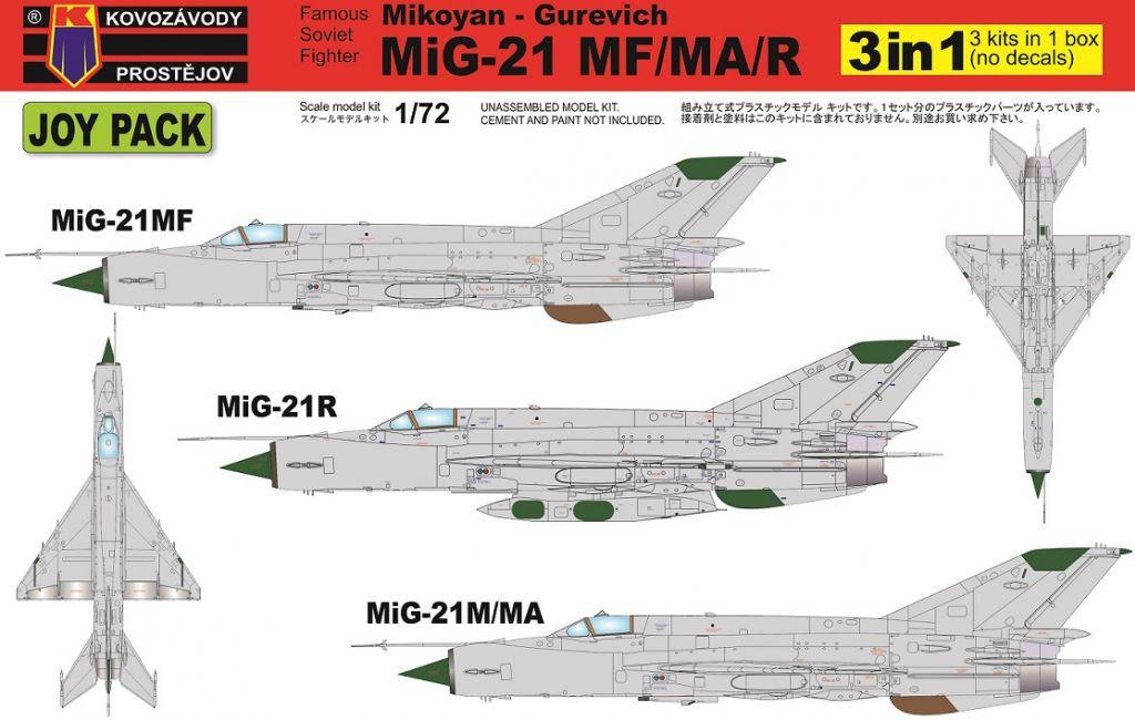 1:72 MiG-21MF/MA/R (3in1)