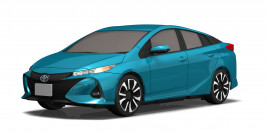 Mini-Z FWD Toyota Prius PHV (Spirited Aqua Metallic) with KT531P Transmitter
