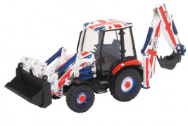 1:76 JCB 3cx Eco Backhoe Loader, Union Jack Livery