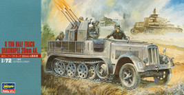 1:72 8 Ton Half Track with Quadrople 20mm AA