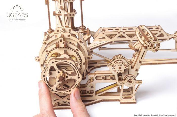 Wooden 3D Mechanical Puzzle – Aviator Mechanical Model Kit
