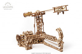 Wooden 3D Mechanical Puzzle – Aviator Mechanical Model Kit