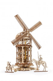 Wooden 3D Mechanical Puzzle – Tower Windmill