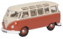 1:76 VW T1 Samba Bus Sealing Wax Red Beige Grey