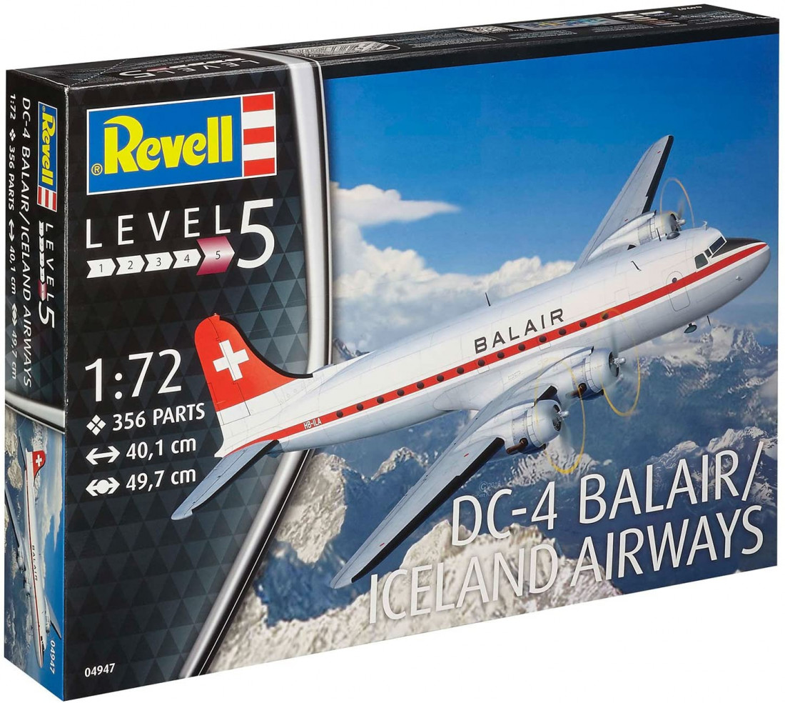 1:72 Douglas DC-4, Balair Airways