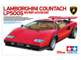 1:24 Lamborghini Countach LP500S Res Body w/clear coat