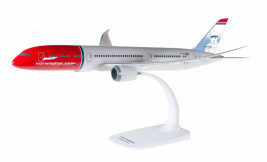 1:200 Boeing 787-9, Norwegian Air UK, 2010s Colors, Babe Ruth (Snap Fit)