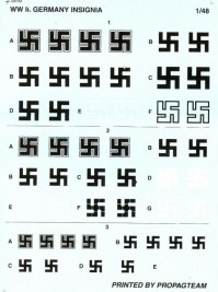 Decals aircraft 1:48 WWII INSIGNIA - PROPAGTEAM