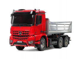 1:14 Mercedes-Benz Arocs 3348 6×4 Tipper Truck, Red/Silver (stavebnice)