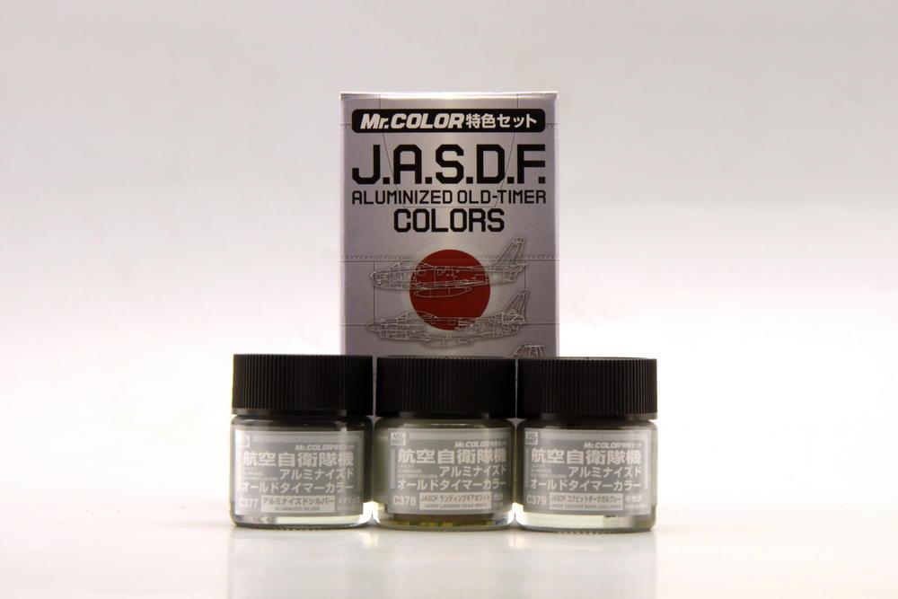 Sada farieb Mr. Color – J.A.S.D.F. Aluminized Old Timer Colors (3× 10 ml)