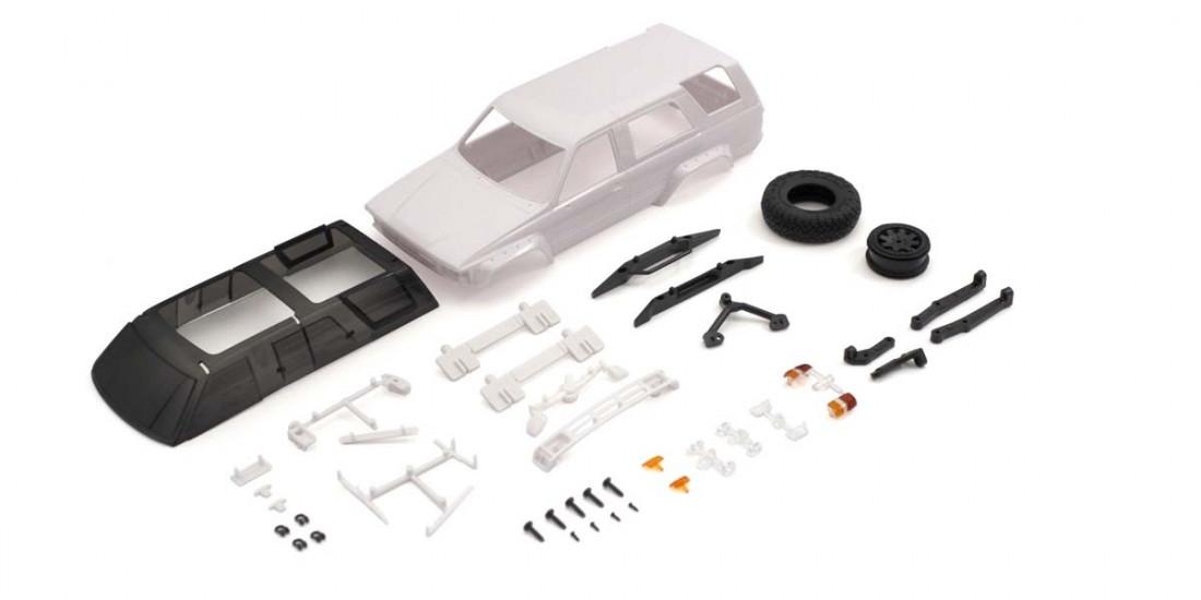 Mini-Z 4x4: Karoserie nebarvená Toyota 4Runner (Hilux Surf)