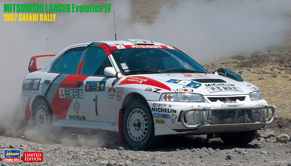 1:24 Mitsubishi Lancer EVO IV, 1997 Safari Rally (Limited Edition)