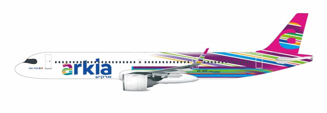 1:200 A321-251NX, Arkia, אהוד מנור (Snap-Fit)
