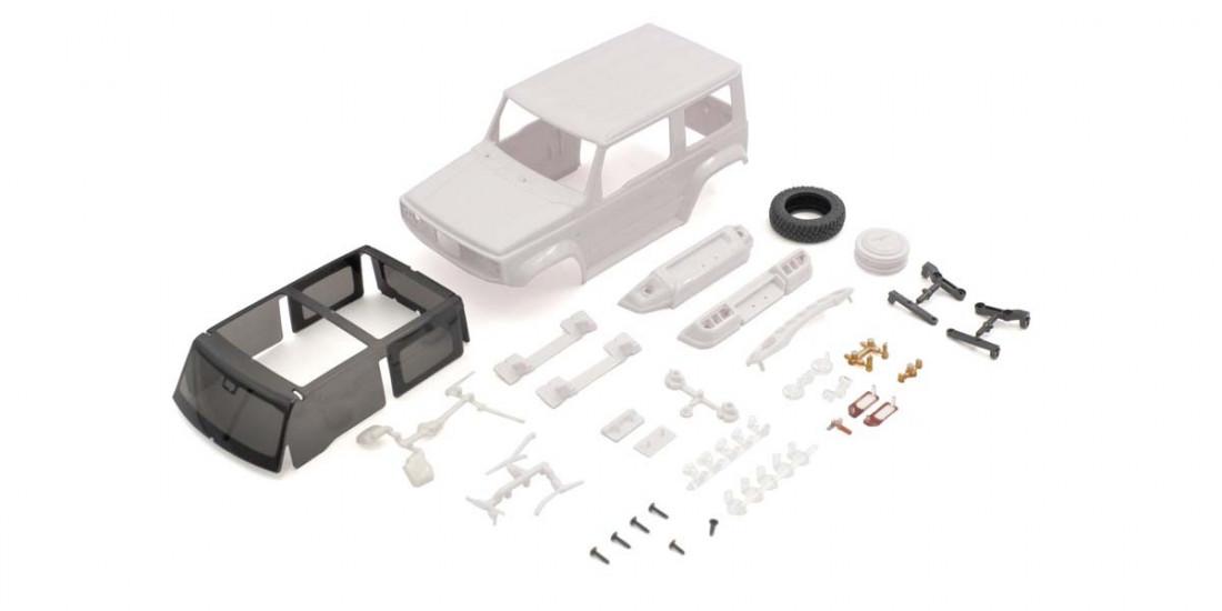 Mini-Z 4x4: Suzuki Jimny karoserie (nebarvená)