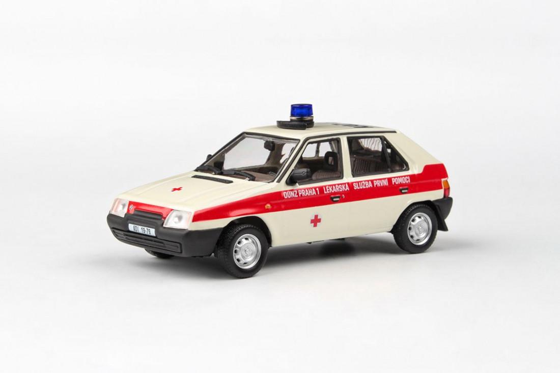 1:43 Škoda Favorit 136L (1988) – OÚNZ Praha 1