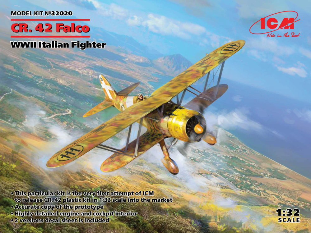 Náhled produktu - 1:32 Fiat CR.42 Falco Italian Fighter WWII