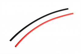Heat shrink tubing black / red at 4.5 mm connectors