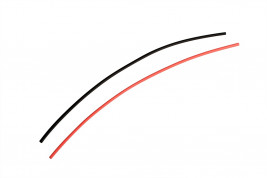 Heat shrink tubing black / red at 2.5 mm connectors