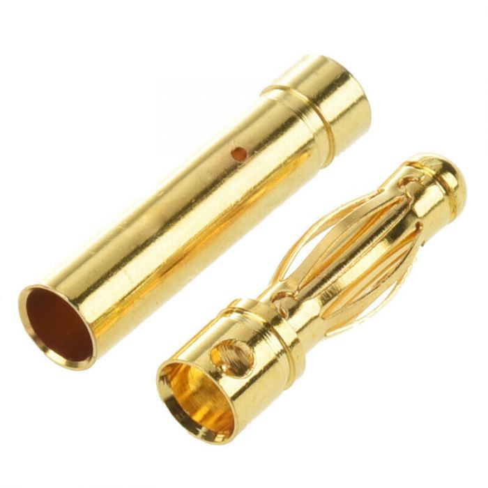 View Product - 4 mm gold-plated plug, price per pair